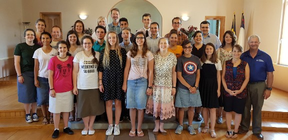 group of participants at the 2018 TBCI Music Camp