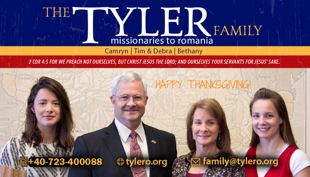 Tyler family prayer card