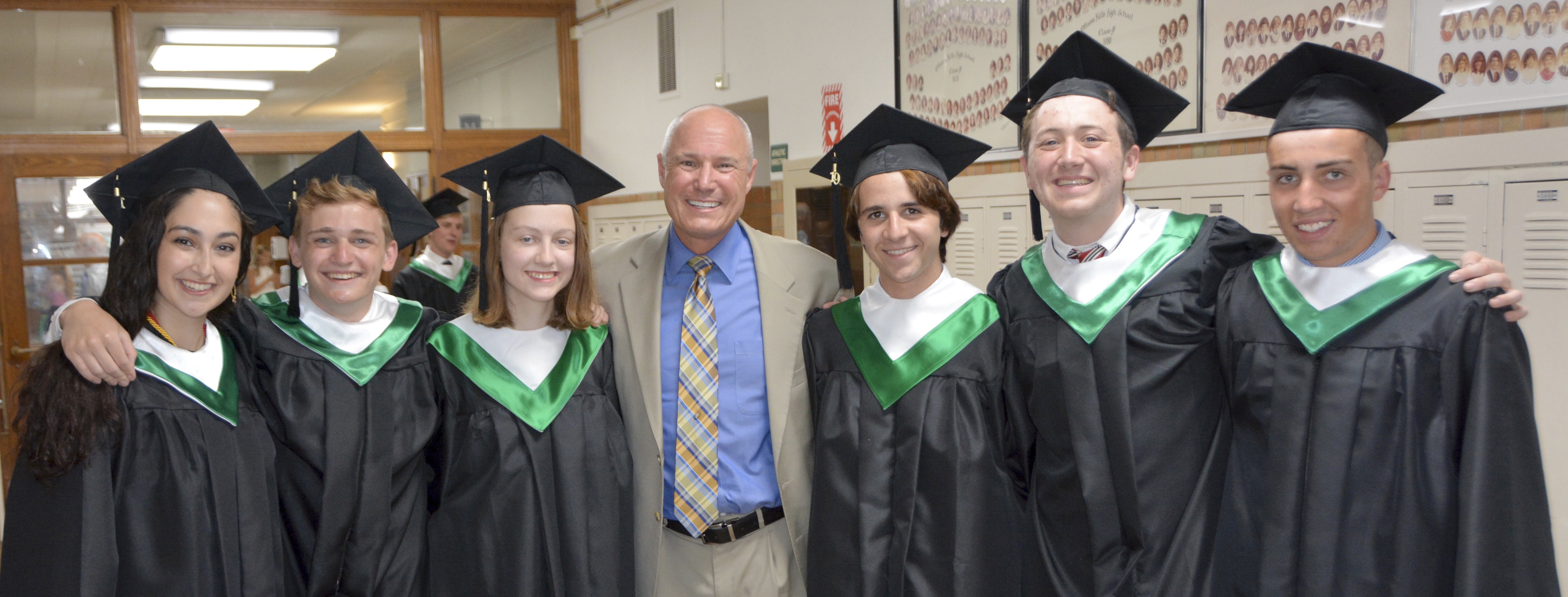 Dr. Miller with members of the class of 2019