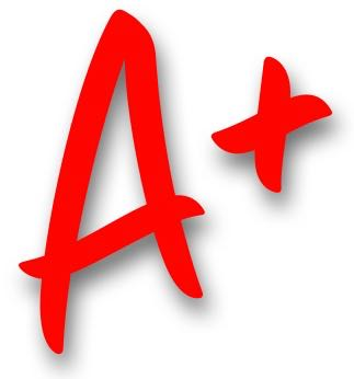 "A logo of an ""A+"""