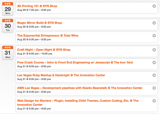 VegasTech Events