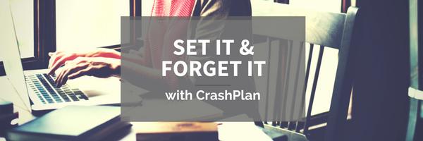 Set It & Forget It with CrashPlan image