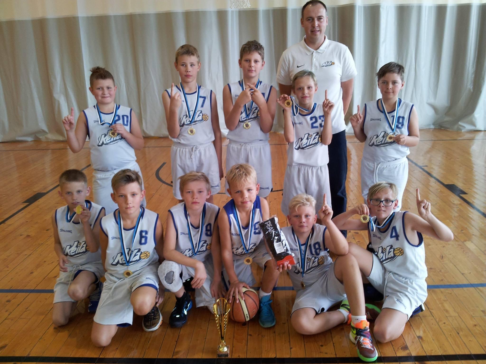 U12 poisid tõid Tartust korvpallikooli selle hooaja esimese kulla