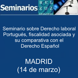 Seminario sobre Derecho laboral portugués (14 de marzo - Madrid)