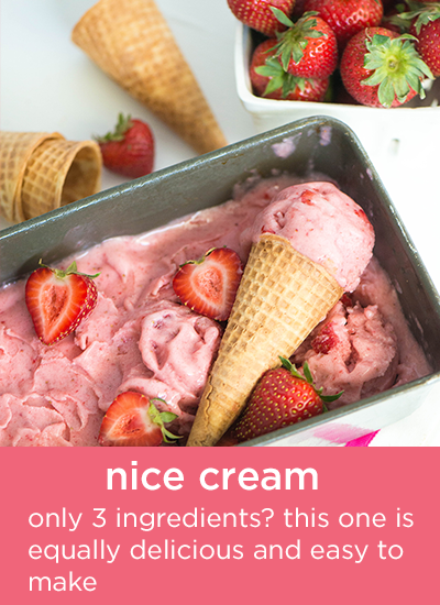 Strawberry Nice Cream - Only 3 ingredients? This one is equally delicious and easy to make.