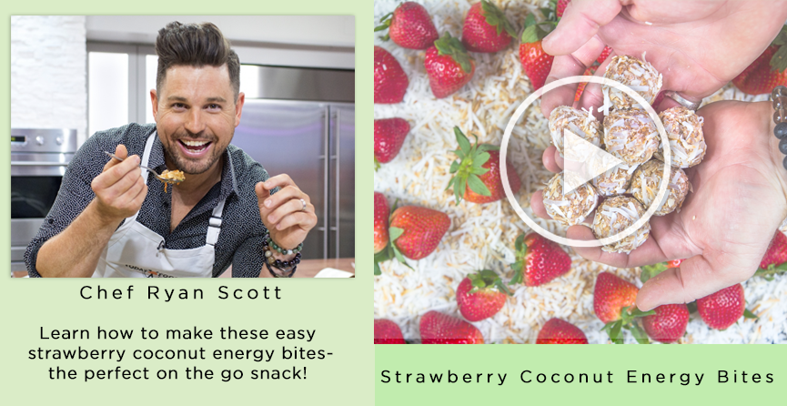 Chef Ryan Scott | Learn how to make the easy strawberry coconut energy bites - the perfect on the go snack!