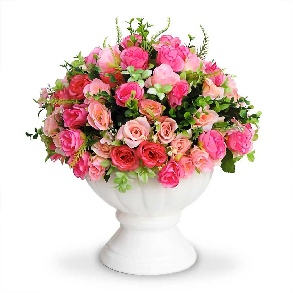 Arranjo de Rosas Mistas Vaso pedestal