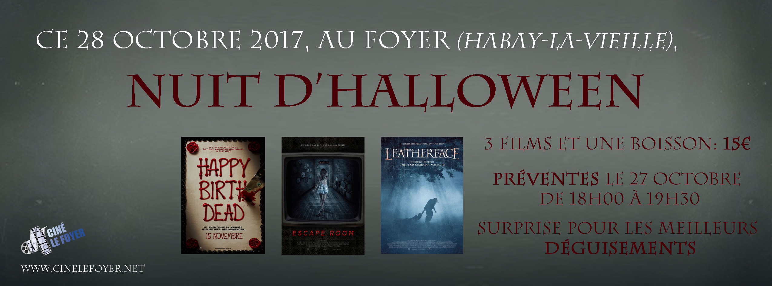 Nuit Halloween au cinéma 2017