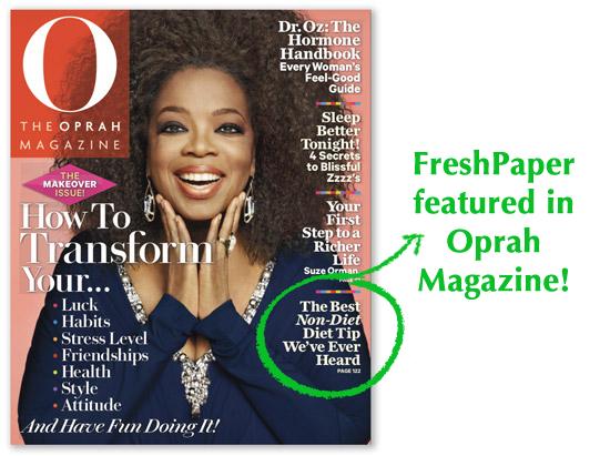 Fenugreen FreshPaper in Oprah Magazine