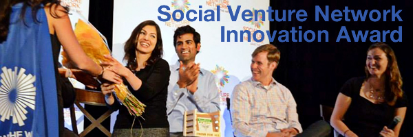 [PHOTO] FreshPaper Wins Social Venture Network Innovation Award