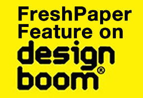 [PHOTO] FreshPaper Featured on DesignBoom