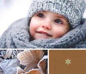 5 wintermotieven met kind en eekhoorntje