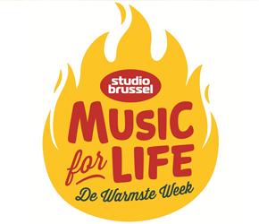 Het logo van de Warmste Week van Music For Life