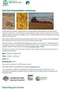 Soils test interpretation workshop