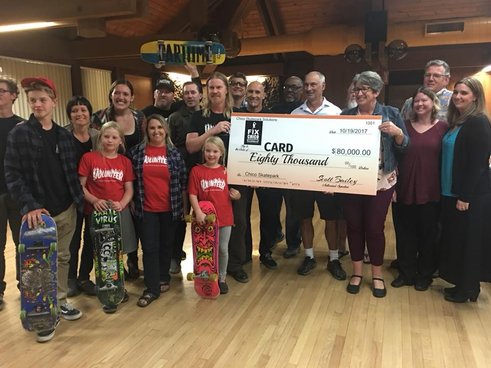 Chico Skatepark Solutions raised over $80,000 for the renovation through fundraisers and donations.