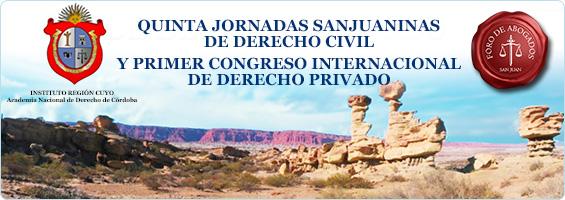Banner Quinta Jornadas Sanjuaninas de Derecho Civil