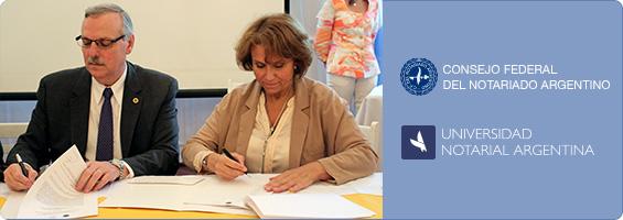 Banner Firma del Convenio con la UNA de Capacitación Permanente para 2015