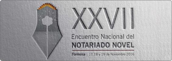 Banner XXVII Encuentro Nacional del Notariado Novel Formosa