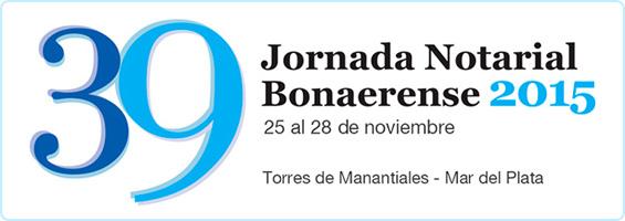 39 Jornada Notarial Bonaerense