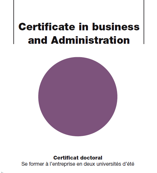 Certificate in Business Administration CFDip
