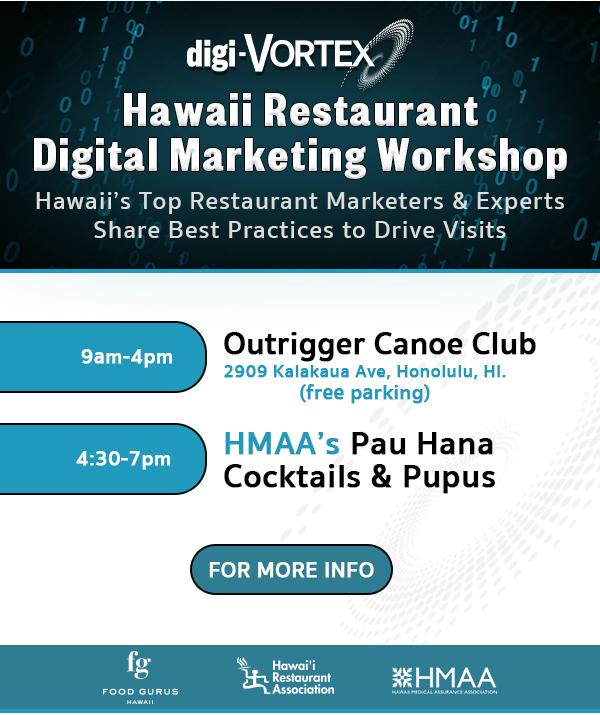Hawaii Restaurant Digital Marketing Workshop November 12th