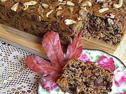 Delicious honey fruitcake