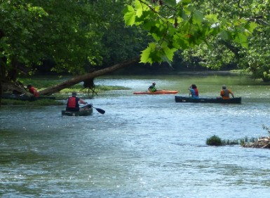The Stillwater River clean-up in progress