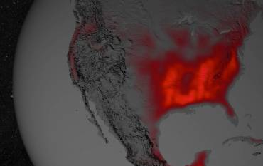 crop productivity of North America measured from space