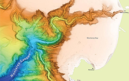 map of seafloor canyon