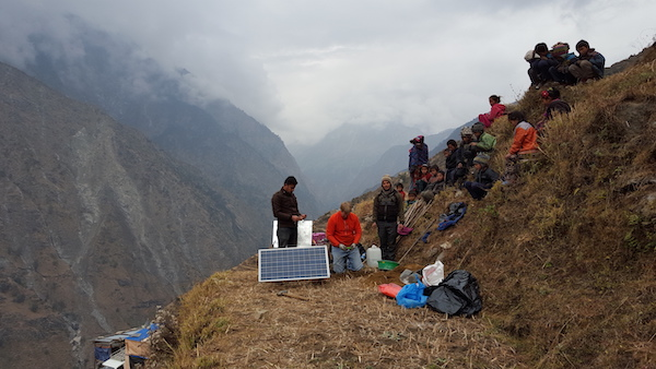 Researchers in Nepal