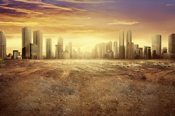 Cityscape climate change
