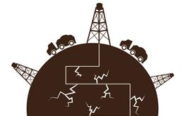 oil drilling illustration