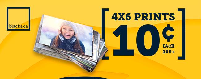 4x6 prints at 10¢