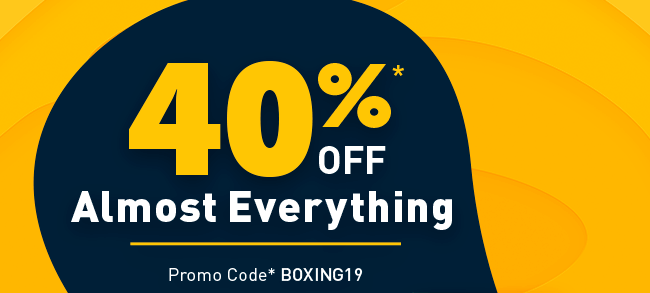 40% Off Almost Everything
