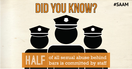 Did you know? Half of all sexual abuse behind bars is committed by staff