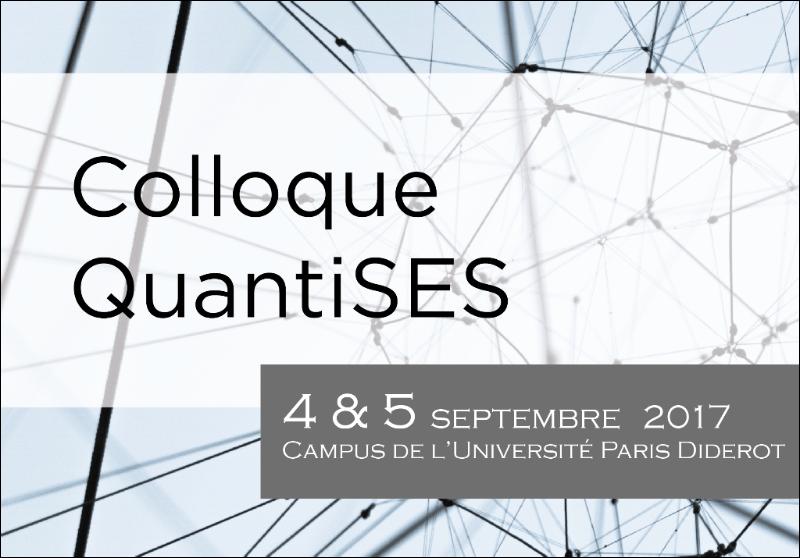 Colloque QuantiSES - 4 et 5 septembre, Paris