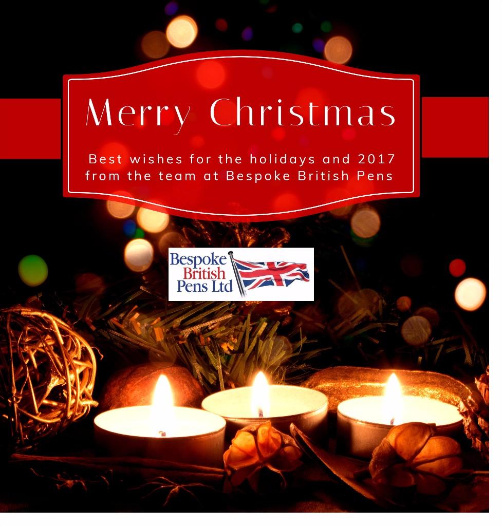 Merry Christmas from Bespoke British Pens