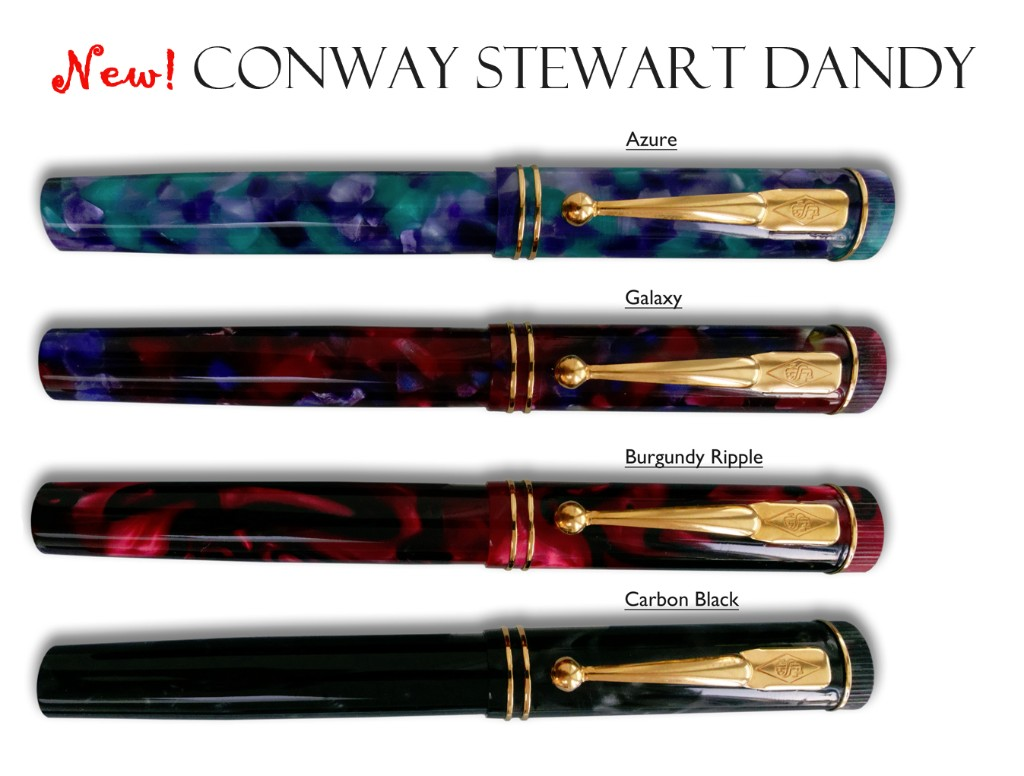 Conway Stewart Dandy in 4 new colours