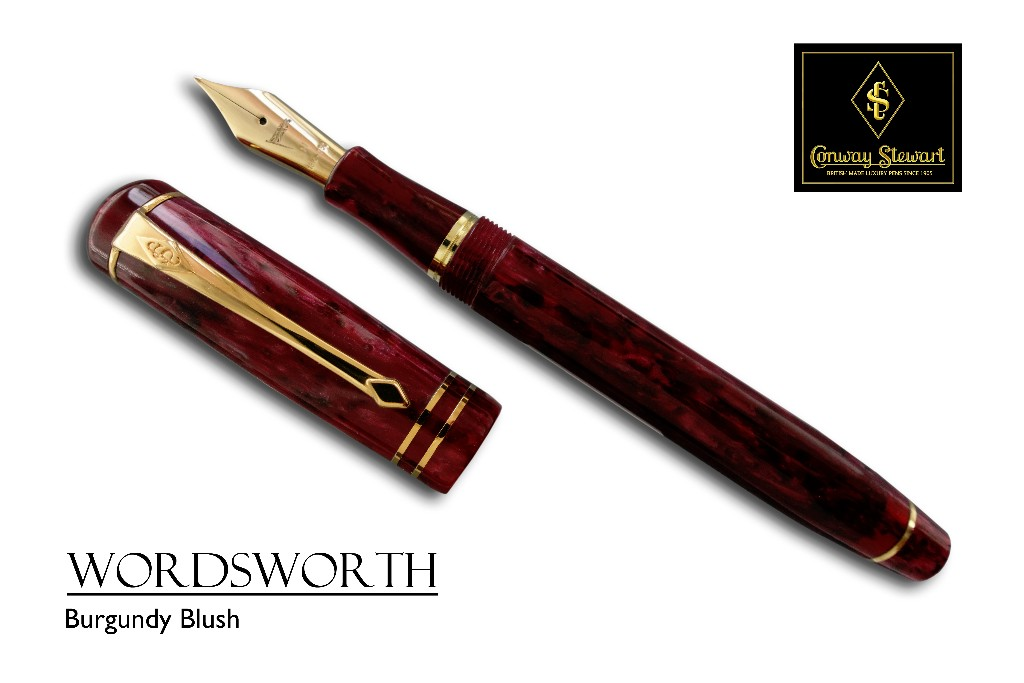 Conway Stewart Wordsworth in Burgundy Blush