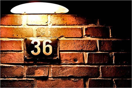 When was the last time you spotted the number 36 on a building?