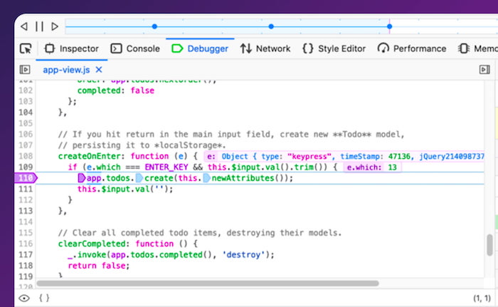 Replay in Firefox DevTools