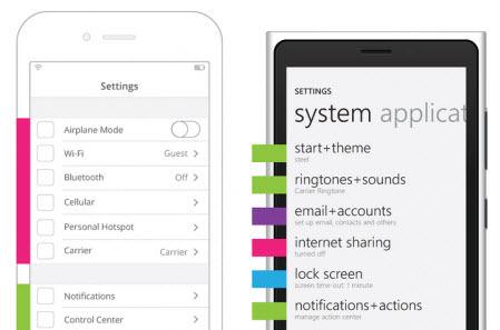 Mobile Settings UX