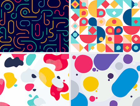 Four graphical patterns