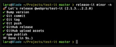 Terminal running Release It