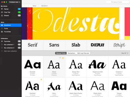 Rent Fonts or Just Try Them For Free