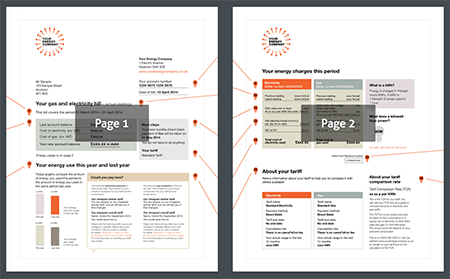 Responsive PDF example, with a few thumbnails accompanying the PDF.