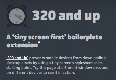 A Boilerplate Extension for Tiny Screens