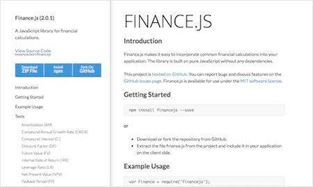 Finance.js