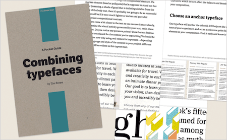 Free eBook: 'A Pocket Guide To Combining Typefaces'