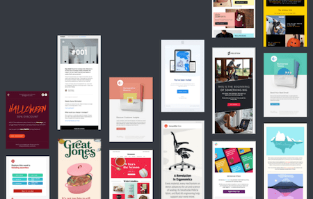 Examples of HTML email design